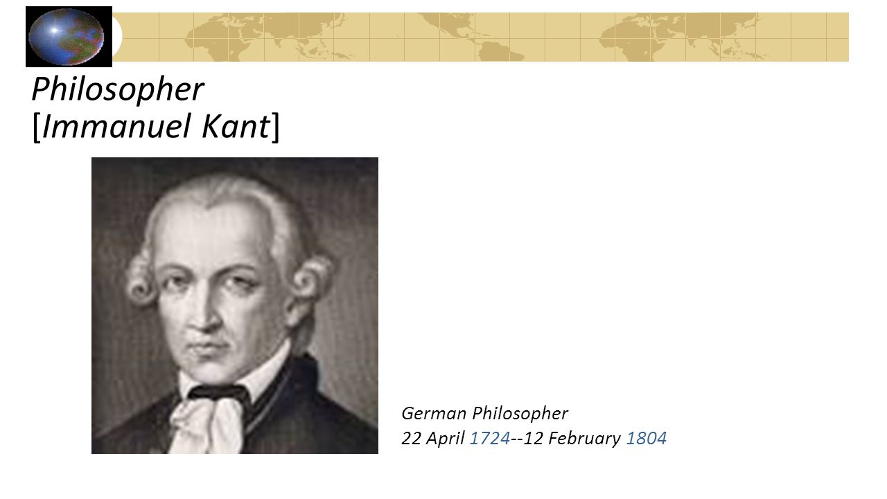 Philosopher [Immanuel Kant]